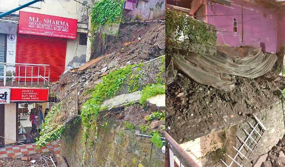 Part of Shimla Ridge Collapses
