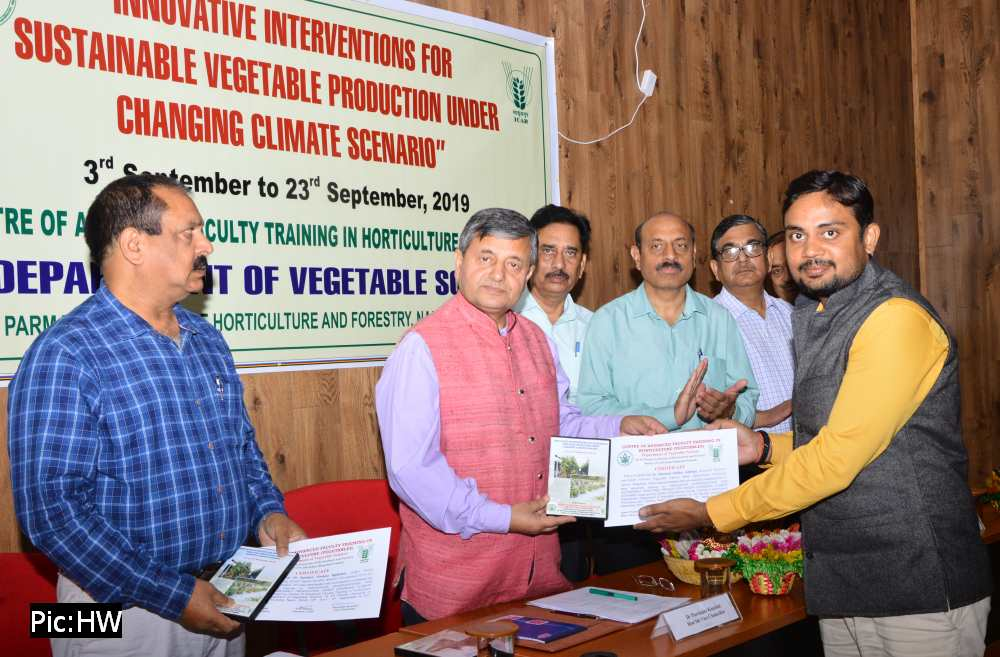 UHF Nauni Training on Sustainable Vegetable Production under Changing Climate Change 2