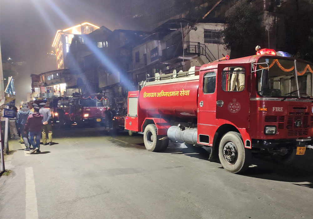 Fire at victory tunnel shimla city
