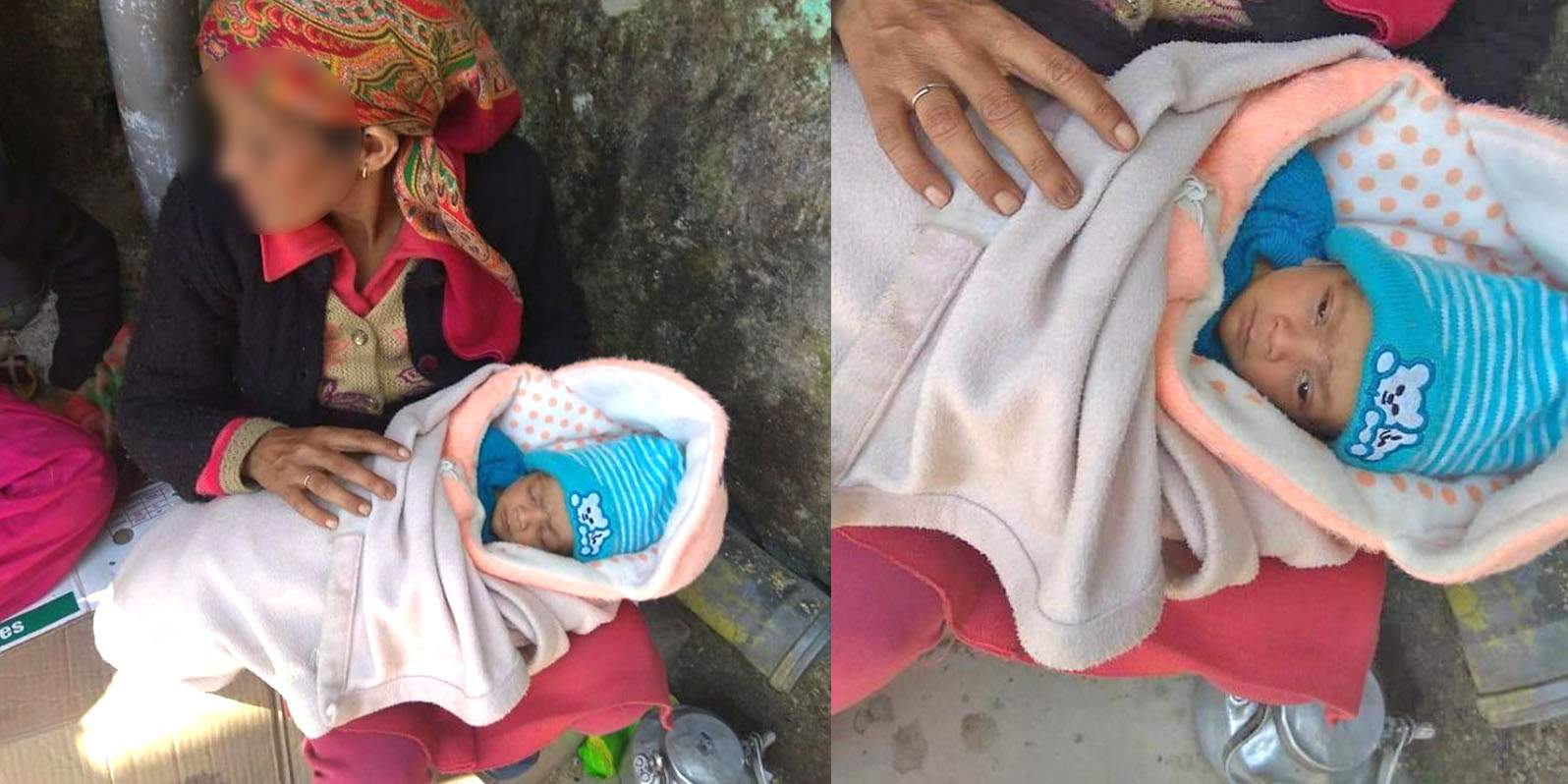 Girl with newborn rescued in shimla isbt b