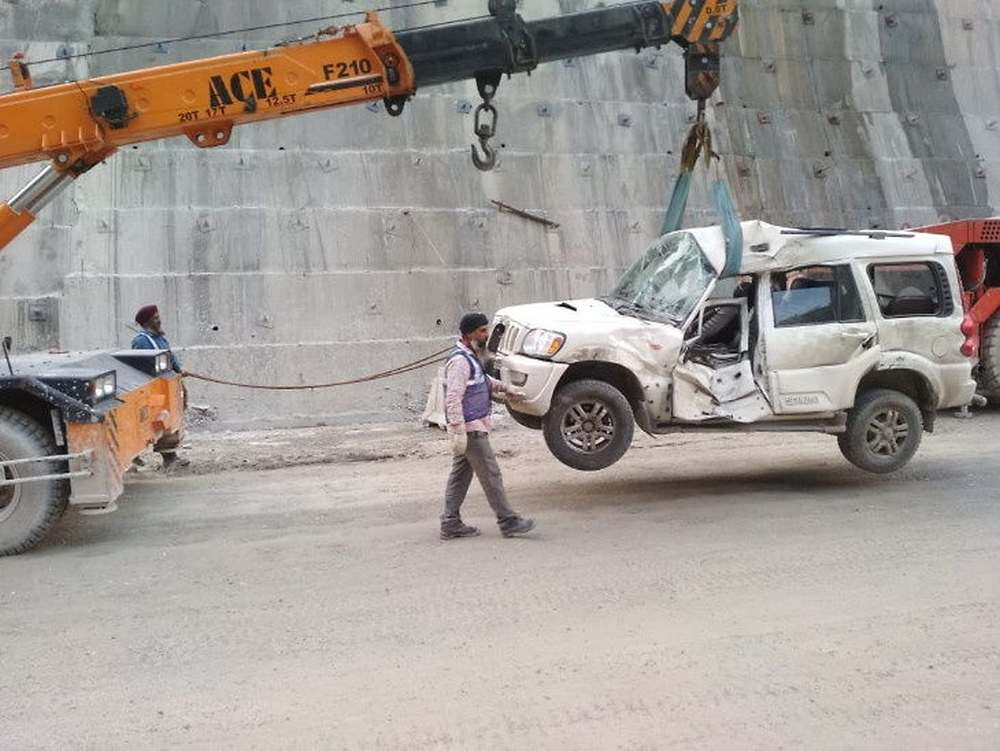 Mandi Tunnel collapse photos
