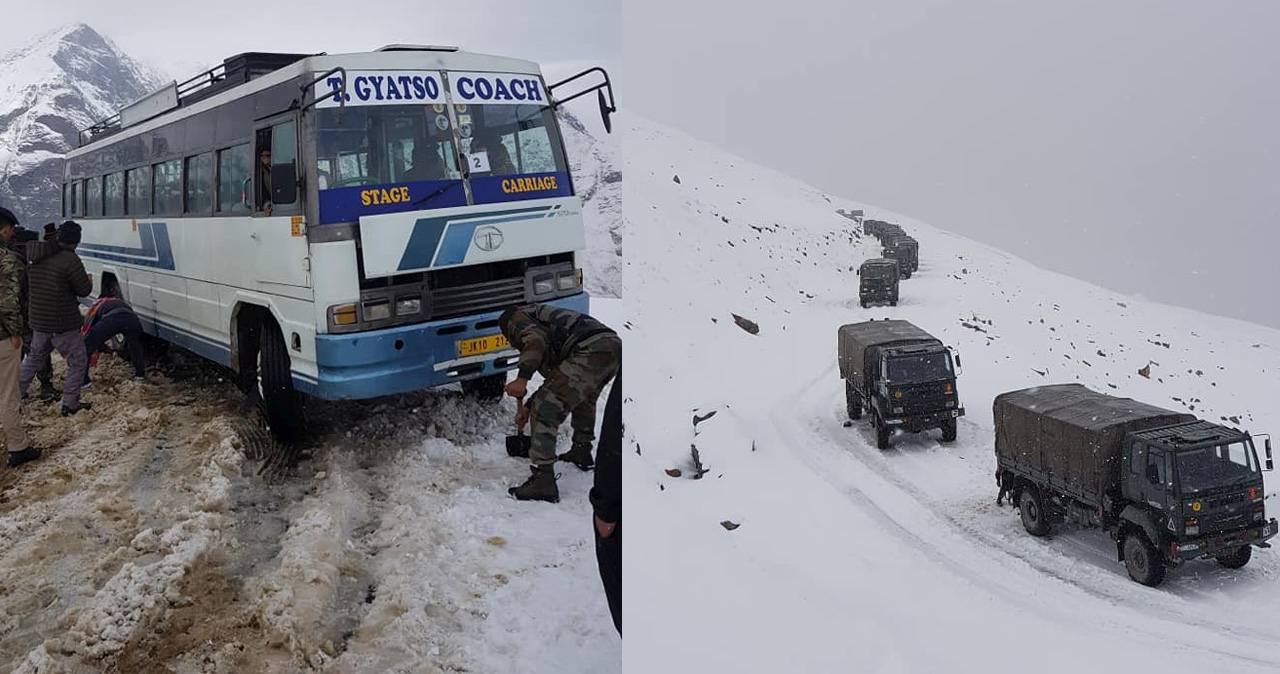 Snow fall in himachal pradesh in october 2019