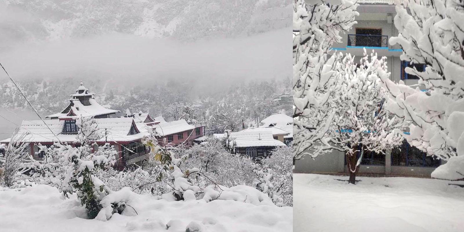 Fresh snowfall in Shimla, Kullu, Manali