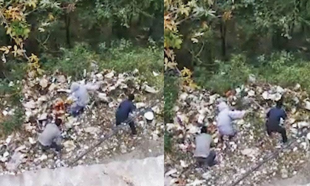 Shimla MC Workers Dumping garbage into forest