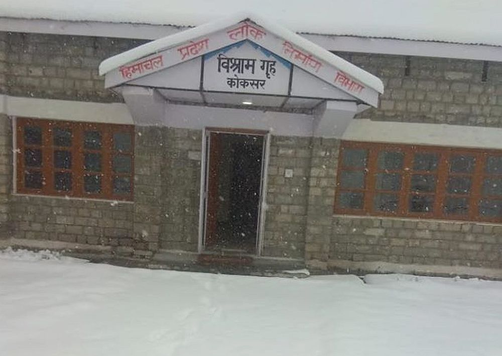 Snowfall in lahaul valley