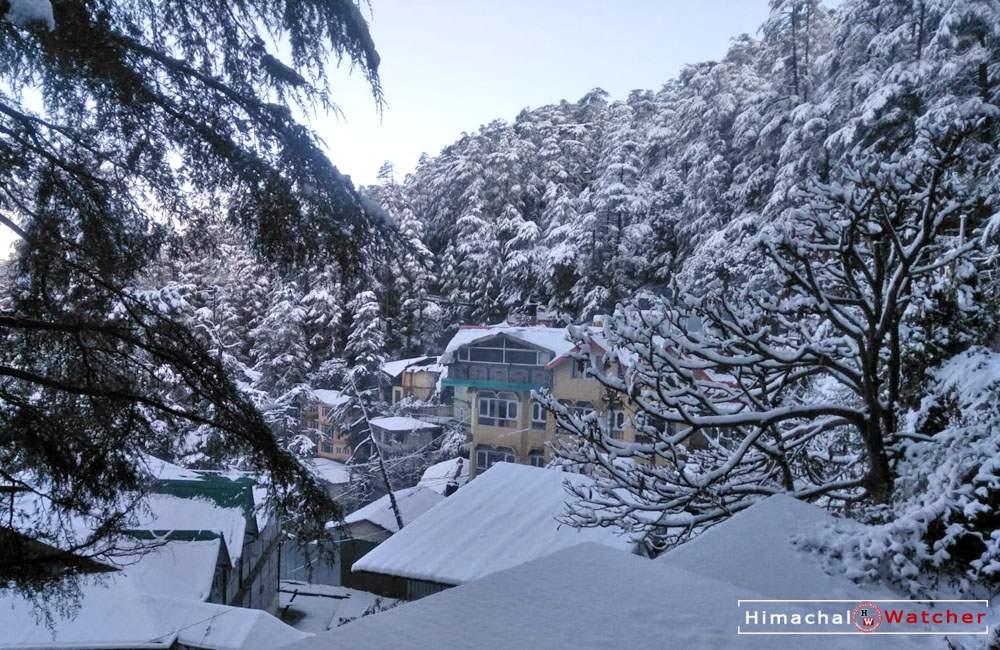 Snowfall in Shimla on December 31, 2019