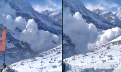 video avalanche in lahaul-spiti