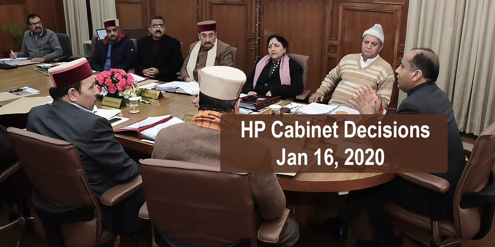 HP Cabinet Decisions Jan 16, 2019