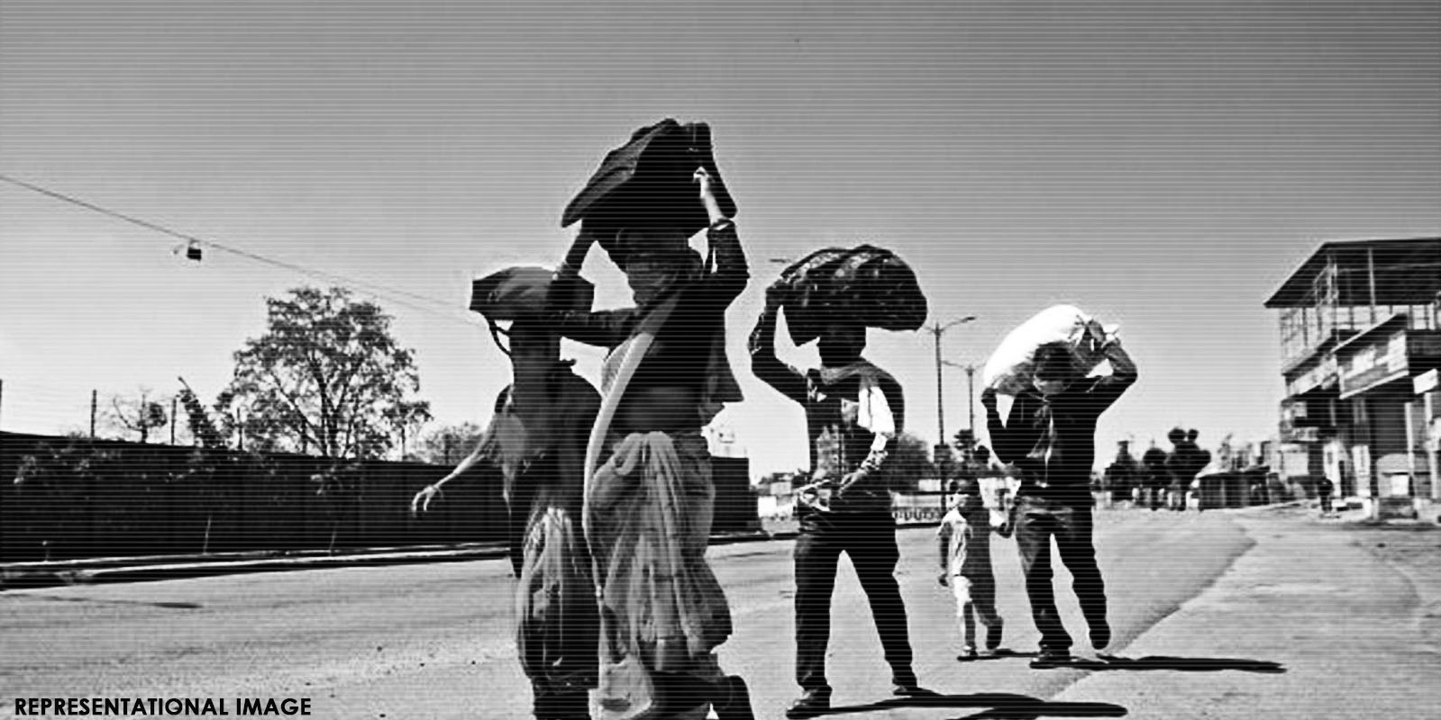 Baddi migrant labourers going back home on foot