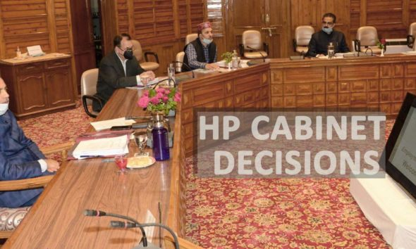 HP Cabinet Decisions may 13, 2020