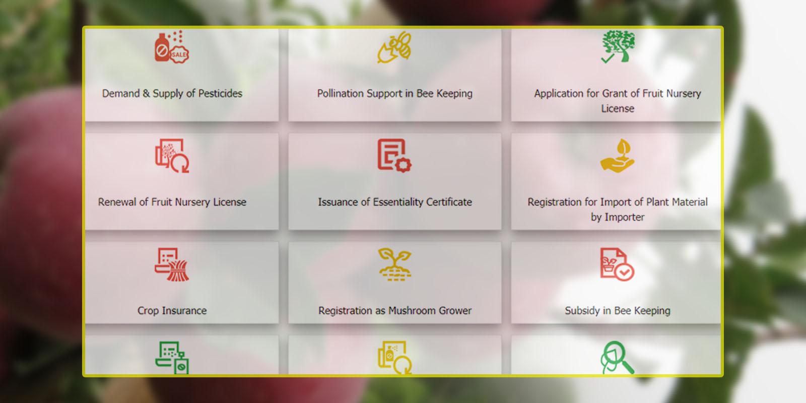 e-udyan hp govt portal for farmers
