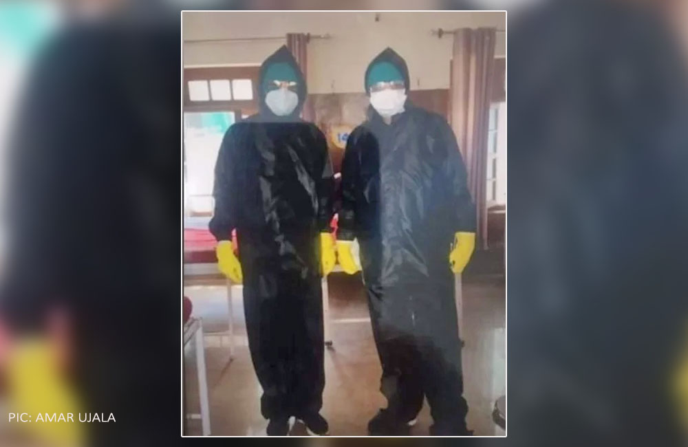Bilaspur Raincoat in place of PPE kits
