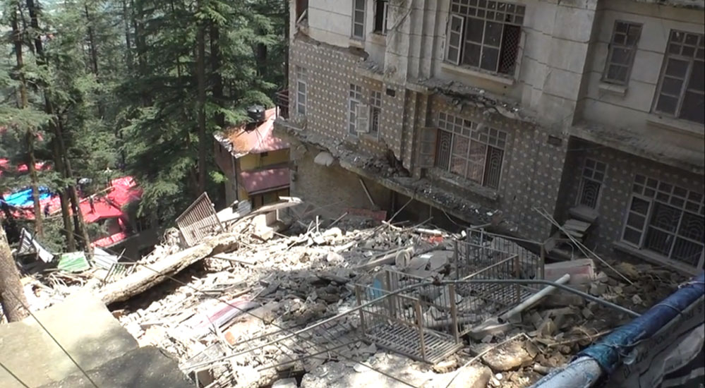 Himachal Pradesh Building collapses in Shimla