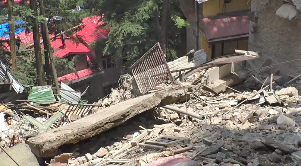 Building collapse in shimla city