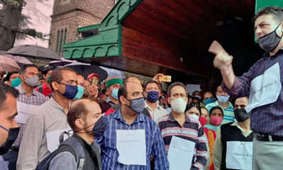 HP Secretariat corona cases protest