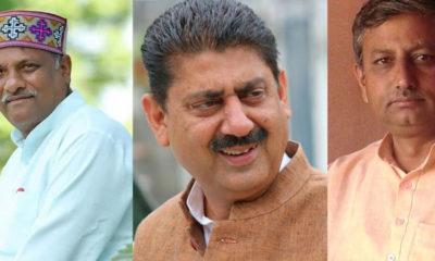 NEW HP Cabinet Ministers Sukh Ram Chaudhary, Rakesh Pathania, Rajinder Garg