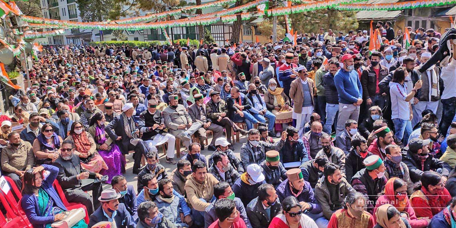 Shimla Congress Rally march 2021