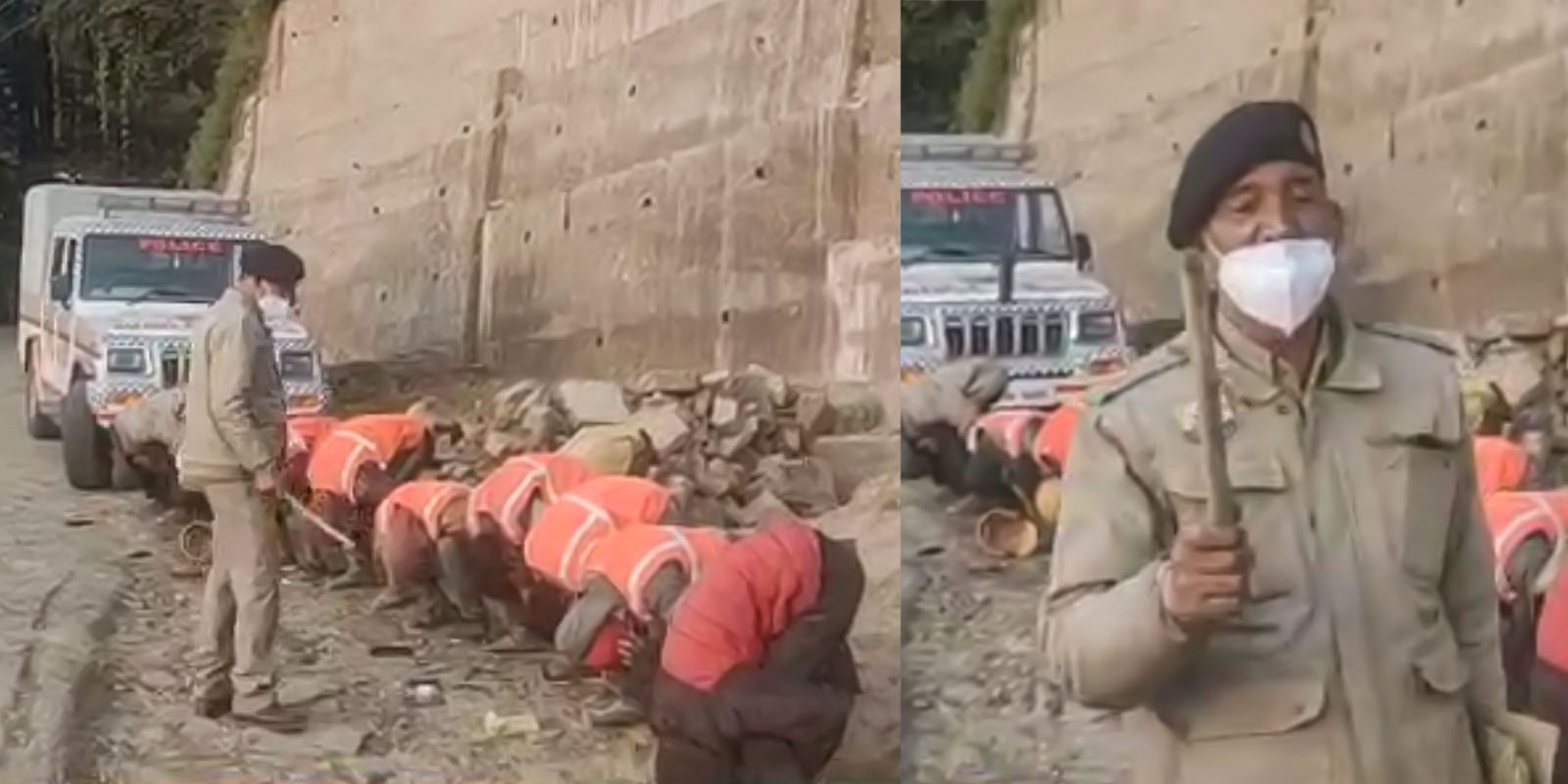 shimla police humiliates labourers