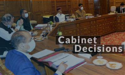 Hp Cabinet Decisions june 22