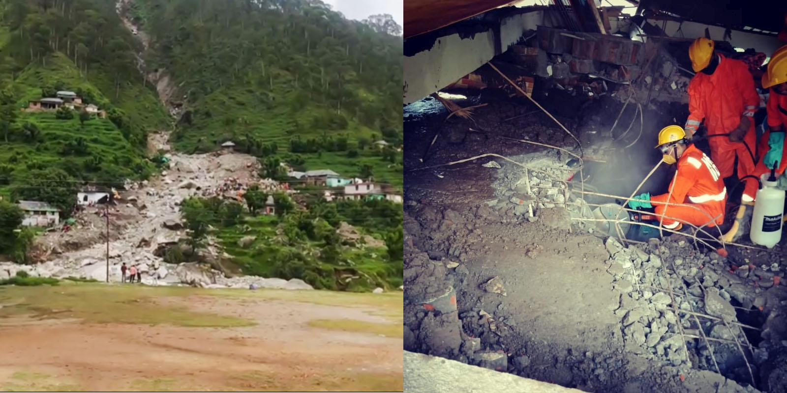 Kangra landslide rescue operation