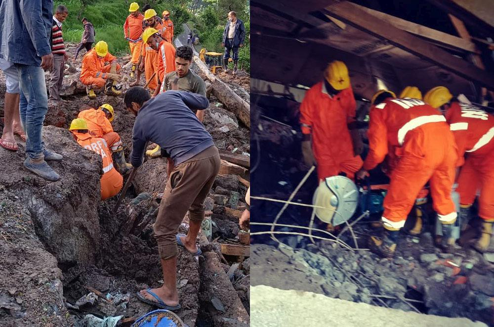 NDRF rescue operation in kangra district in