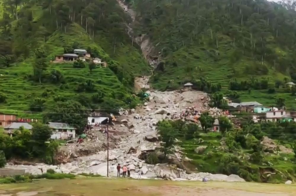 Shahpur landslide pictures