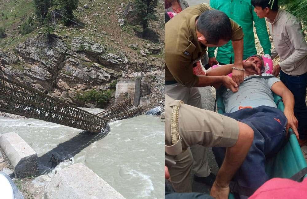 Video of landlside in himachal pradesh