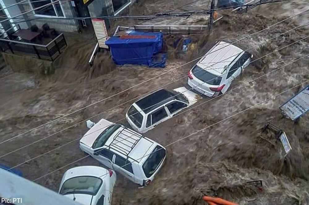 photo of dharamshala flash flood