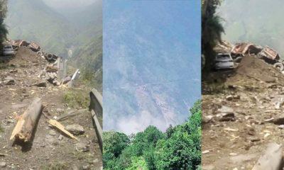Kinnaur landslide buries hrtc bus
