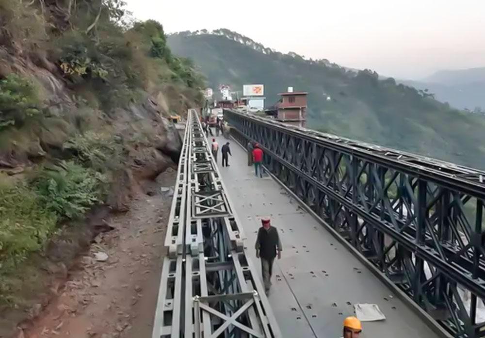 Bailey bridge on nh 205 in shimla opens
