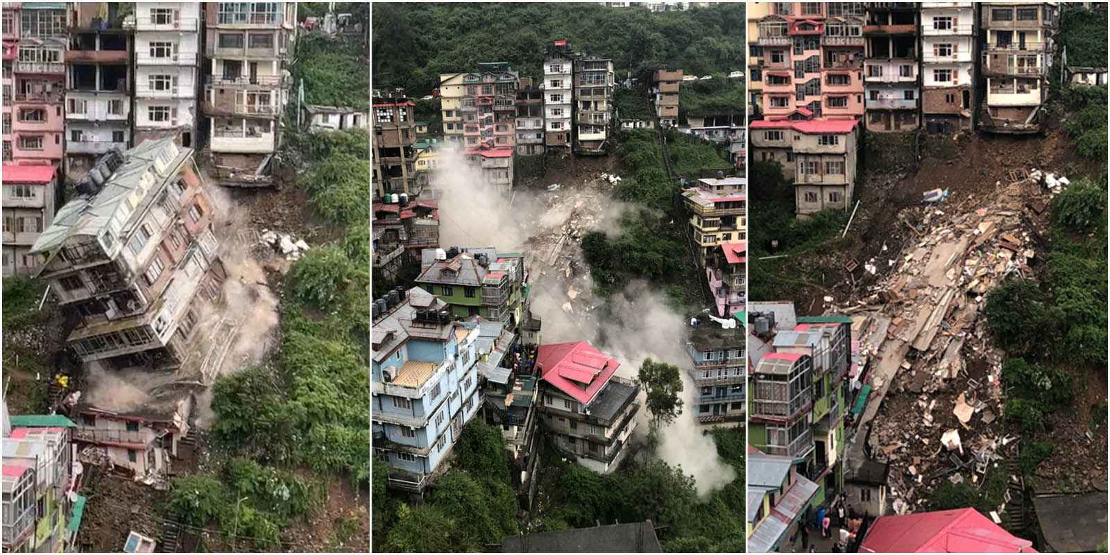 Building Collapse in Shimla Video